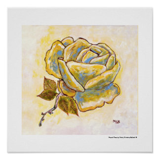 French Rose - South of France Rose Painting Gift Poster