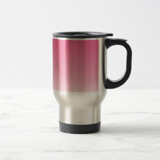 French Rose to Piggy Pink Horizontal Gradient Travel Mug