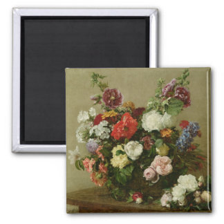French Roses and Peonies, 1881 Magnet