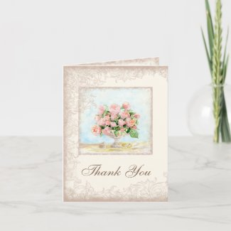 French Roses, Custom Business, Thank You Notes card