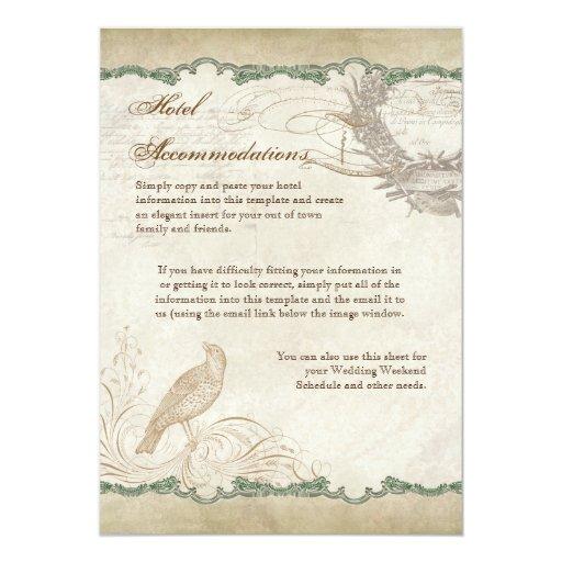 French Roses Love Birds Swirl Vintage Lace - Aqua 5x7 Paper Invitation Card