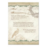 French Roses Love Birds Swirl Vintage Lace - Aqua Personalized Invites