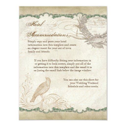 "French Roses Love Birds Swirl Vintage Lace - Aqua 4.25"" X 5.5"" Invitation Card"