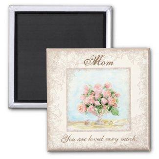 French Roses, Mom, Magnet, Christmas, Birthday magnet