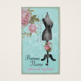 French Rosy Mannequin Business Card
