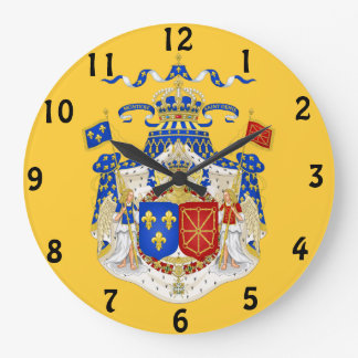 French Royal Coat of Arms Wall Clock