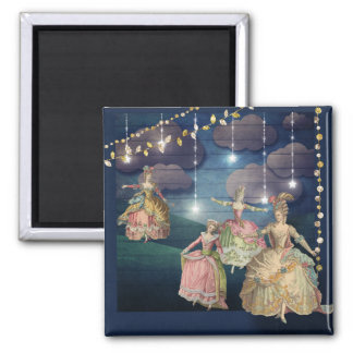 French Royals Dancing Under the Twinkling Lights Magnet