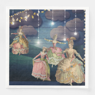 French Royals Dancing Under the Twinkling Lights Paper Dinner Napkin
