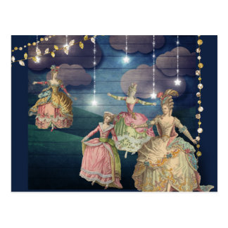 French Royals Dancing Under the Twinkling Lights Postcard