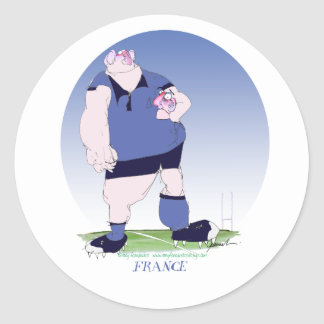french rugby player, tony fernandes classic round sticker
