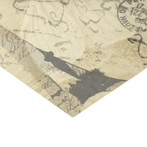 French Script, Eiffel Tower and Parisian Postage Tissue Paper