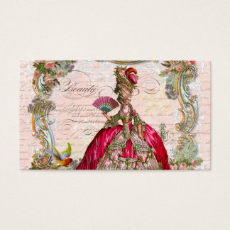 French Script Writing and Marie Antoinette Business Card