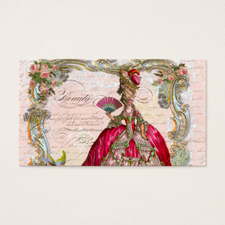 French Script Writing & Marie Antoinette Business Card