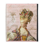 French Script Writing & Marie Antoinette iPad Folio Case