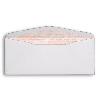 French script writing pink vintage style envelope