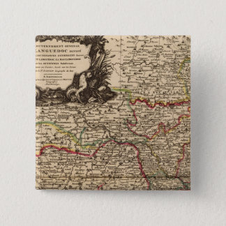 French settlements and forests pinback button