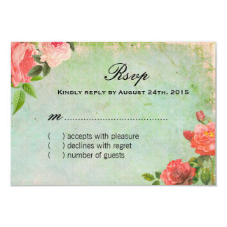 French Shabby Chic RSVP Cards