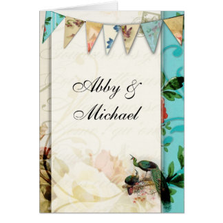 French Shabby chic Vintage Card