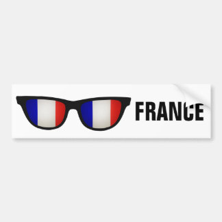 French Shades custom text & color bumpersticker Bumper Sticker