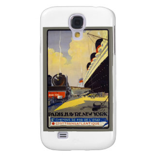 French Shipping Poster Samsung Galaxy S4 Cover