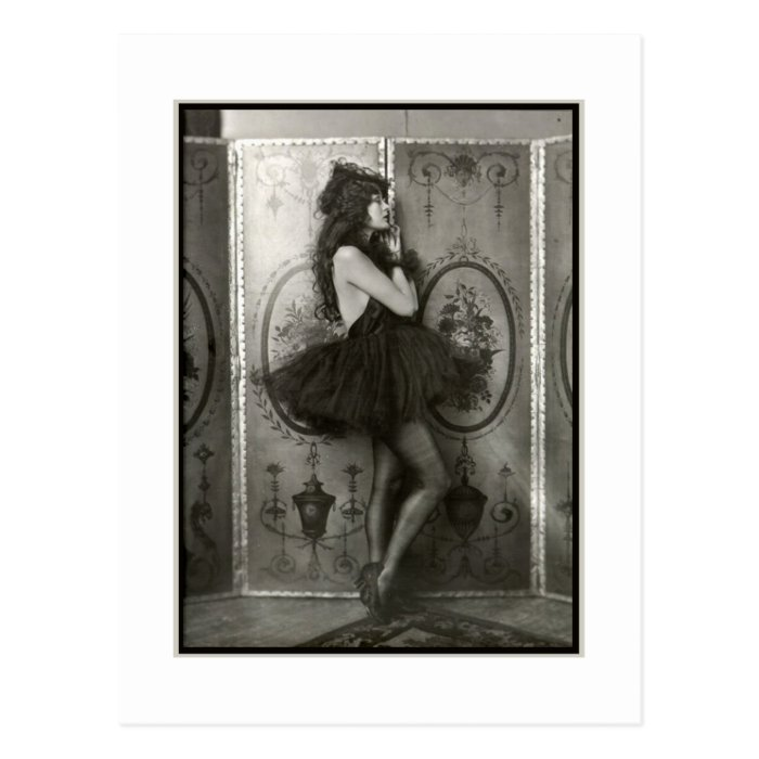 French Show Girl circa 1920 Postcard