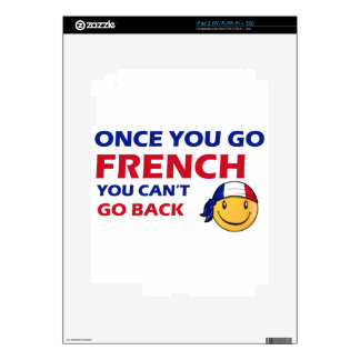 French Smiley designs Skin For The iPad 2
