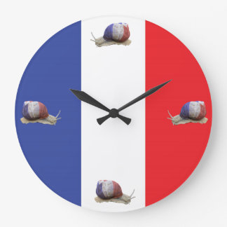 French snail flag large clock