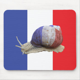 French snail flag mouse pad