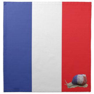 French snail flag printed napkin
