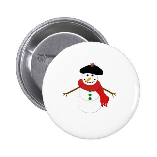 French Snowman Button