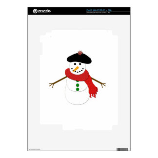 French Snowman Skins For iPad 2
