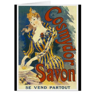 French Soap Ad 1891 Card