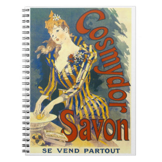 French Soap Ad 1891 Spiral Notebook