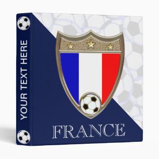 """French Soccer 1"""" 3 Ring Binder"""