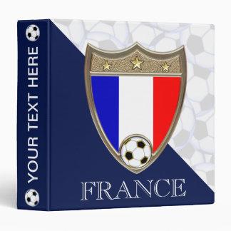 """French Soccer 1.5"""" Binder"""