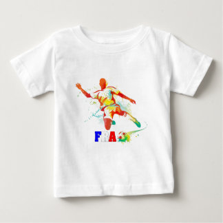 French Soccer Baby T-Shirt
