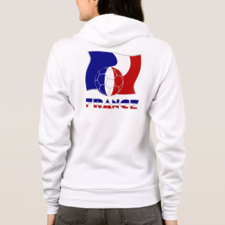 French Soccer Ball and Flag Hoodie