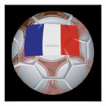 French Soccer Ball Poster