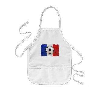 French Soccer Kids' Apron