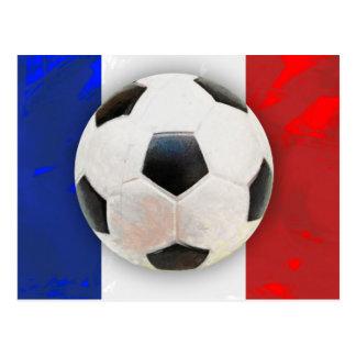 French Soccer Postcard