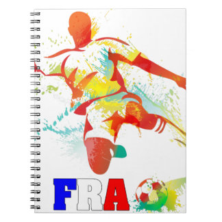 French Soccer Spiral Notebook