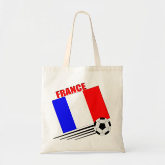 French soccer team budget tote bag