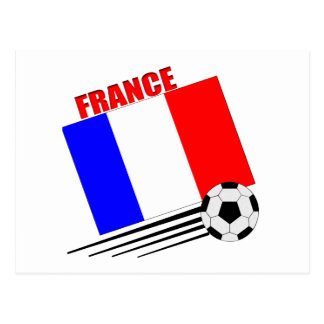 French soccer team postcard