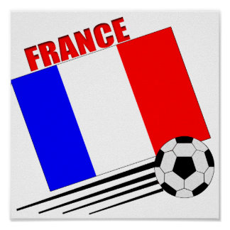 French soccer team poster