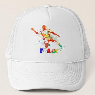 French Soccer Trucker Hat