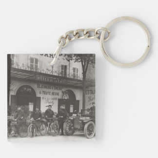 French soldiers, car and bikes Double-Sided square acrylic keychain
