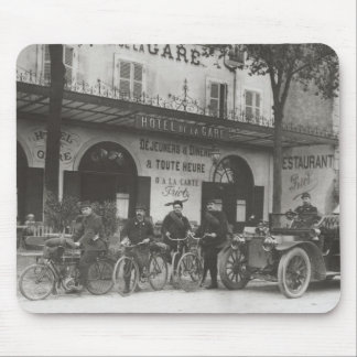 French soldiers, car, motorbike mouse pad