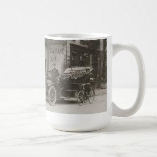 French soldiers, car, motorbike mug
