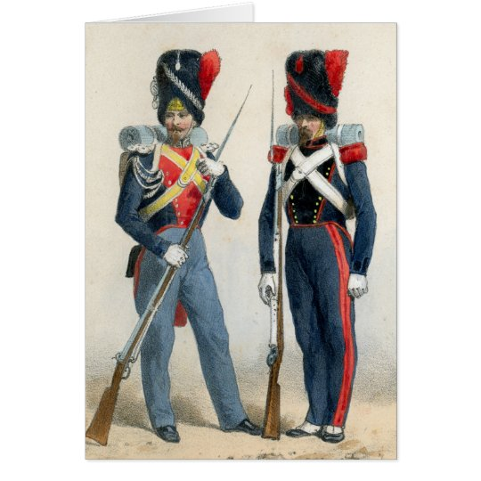 French soldiers of the 19th century card