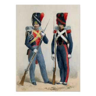 French soldiers of the 19th century poster